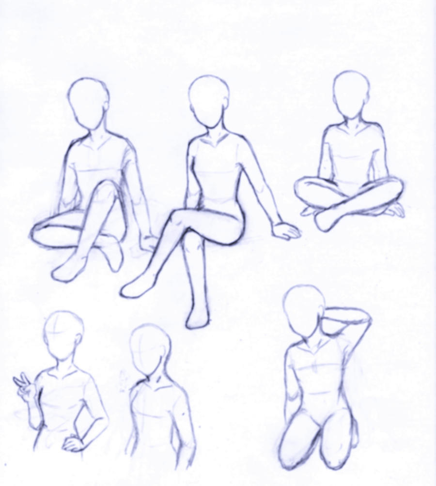 How to draw sitting poses