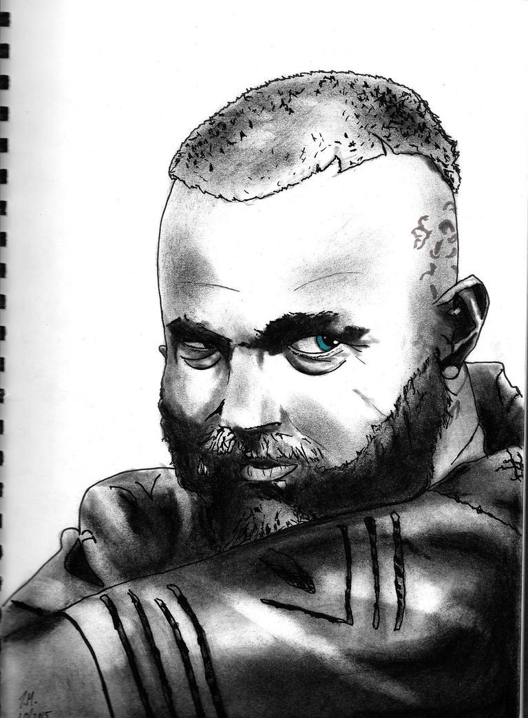 Ragnar lodbrok b/w by tmaldo33