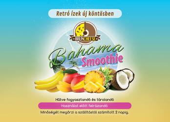 Bahama drink label