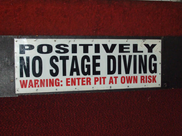 Stage Diving...