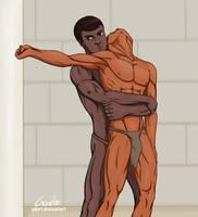 The wrestling -11. by GonZZoArt