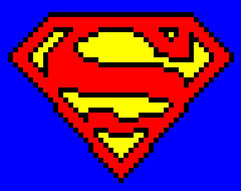 Logo Superman Pixel Art