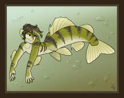Yellow Perch Merman