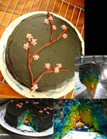 black mini cake by Yellowmelle