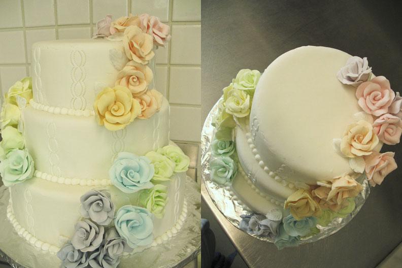 rose wedding cake by Yellowmelle on DeviantArt