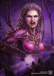 Queen of Blades by DaenirArt
