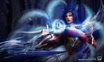 Ahri from League of Legends by DaenirArt