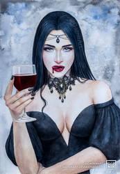 Blood and Wine by DaenirArt