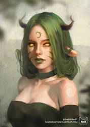 Demon Girl by DaenirArt