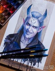 Demon Man by DaenirArt