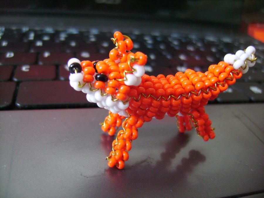 bead fox by anoriann on deviantart