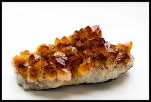 Citrine quartz crystals by grimleyfiendish