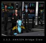 U.S.S. Amazon Bridge Crew