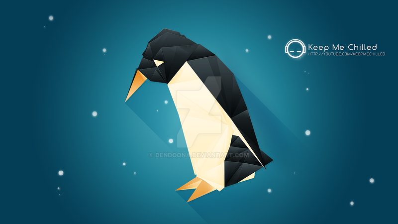 Penguin Origami Wallpaper by dendoona