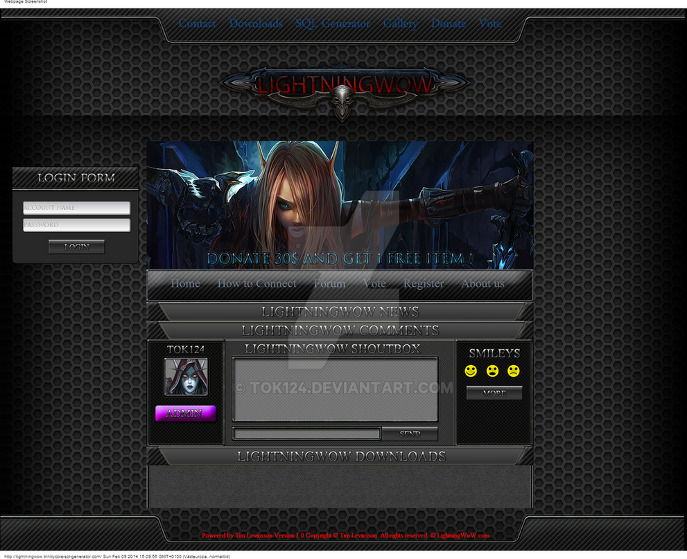 Lightningwow trinitycore-sql-generator com by tok124 on DeviantArt