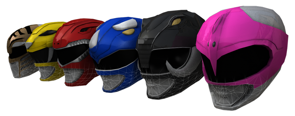 MM Power Rangers Helmets by bogeymankurt