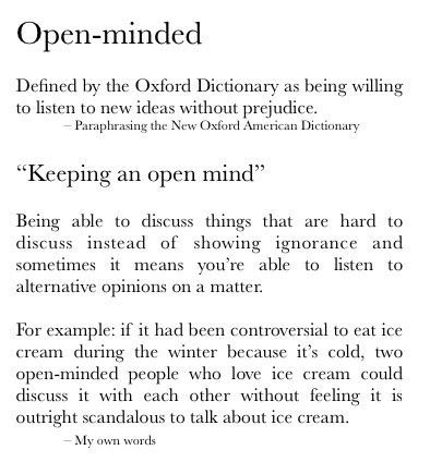What Does It Mean To Be Open Minded