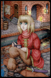 Reader in the Dusk by hellbull