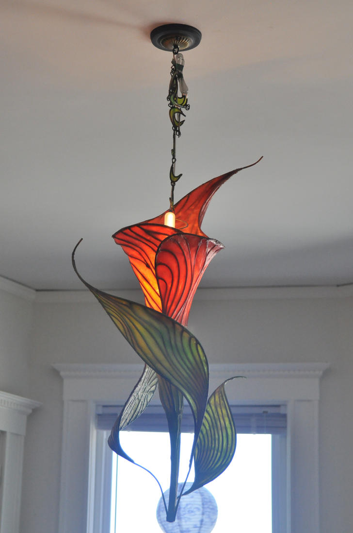Flower Lamp   6 Calla Lily Installed By OkapiZen ...