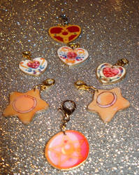 Sailor Moon Items charms by honeyheavenly