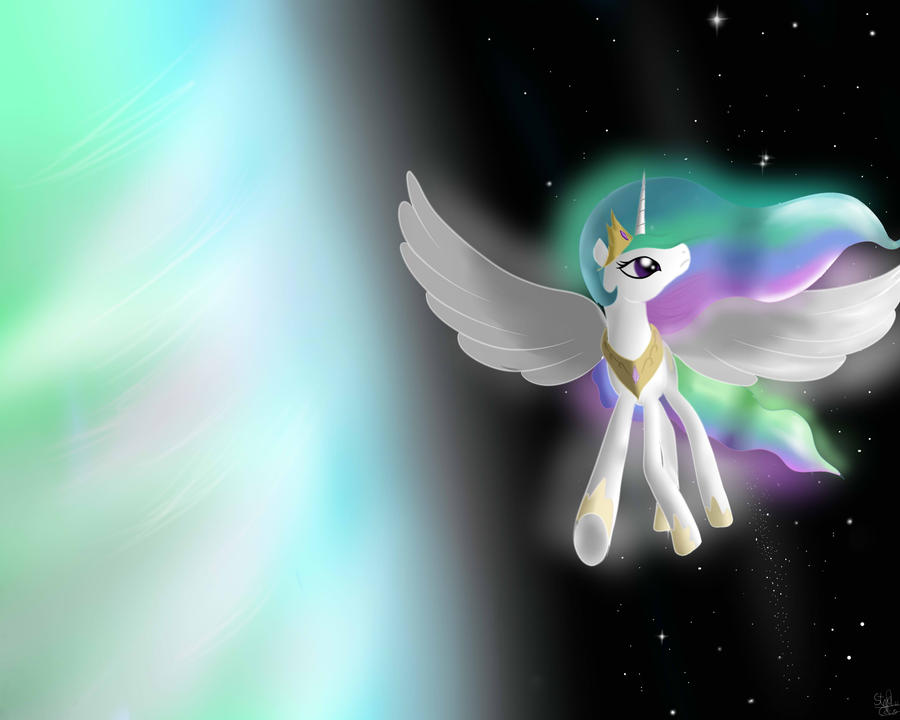 Celestia, Guardian of Equestria by MrIcantdraw