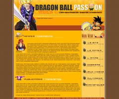 Webdesign Dragon Ball Passion by I-Mega-I