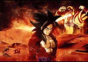Goku supa saiyajin 4 by I-Mega-I