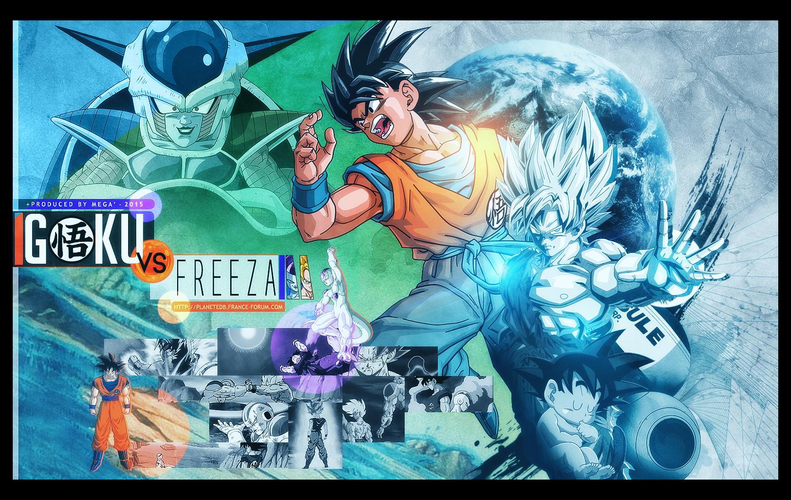 Goku VS Freeza by I-Mega-I