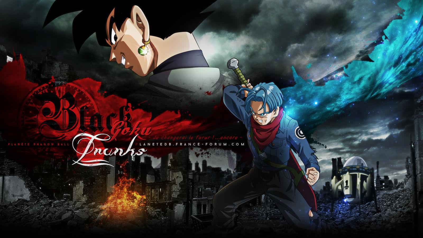 Trunks VS Black Goku by I-Mega-I