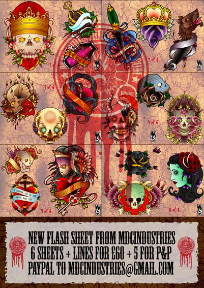 MDC Tattoo Flash set 1 by monkeydeathcult