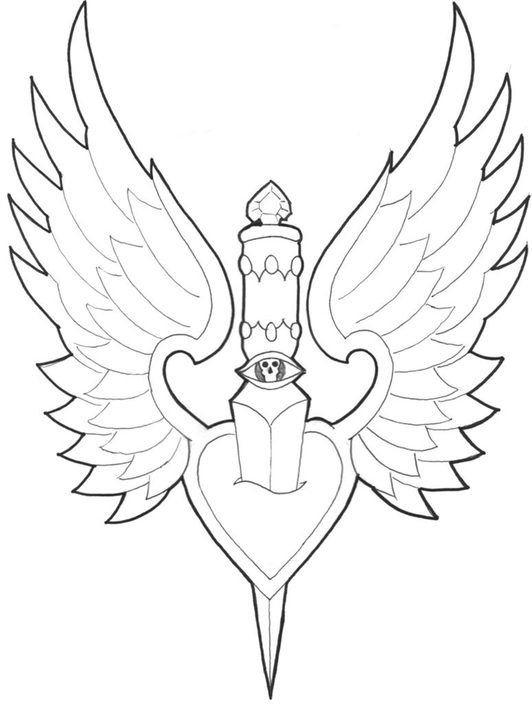 Heart With Wings Coloring Page. Heart Coloring Pages   Coloring ...