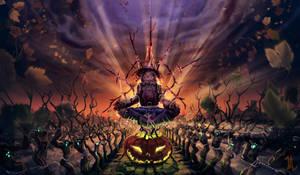 Meditating scarecrow by ALMEIDAHelder