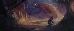 Swamp Encounter by ALMEIDAHelder