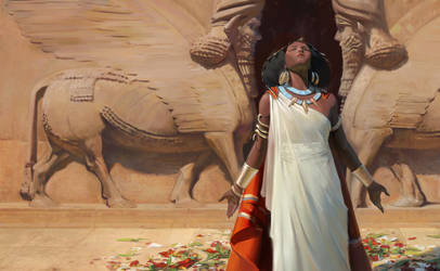 Hanu, the great priestess of Marduk by ALMEIDAHelder