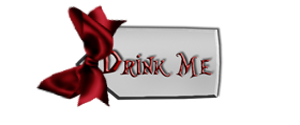 Drink  Me Label with Ribbon