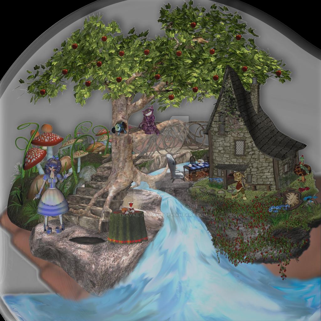 Alice in Wonderland - Image Cutout - Part 01 - 04 by Travail-de-lame