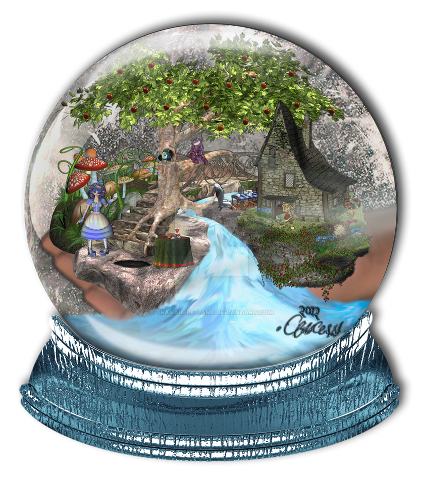 Alice in Wonderland ~ Snow Globe by Travail-de-lame on DeviantArt - Plant De Travail