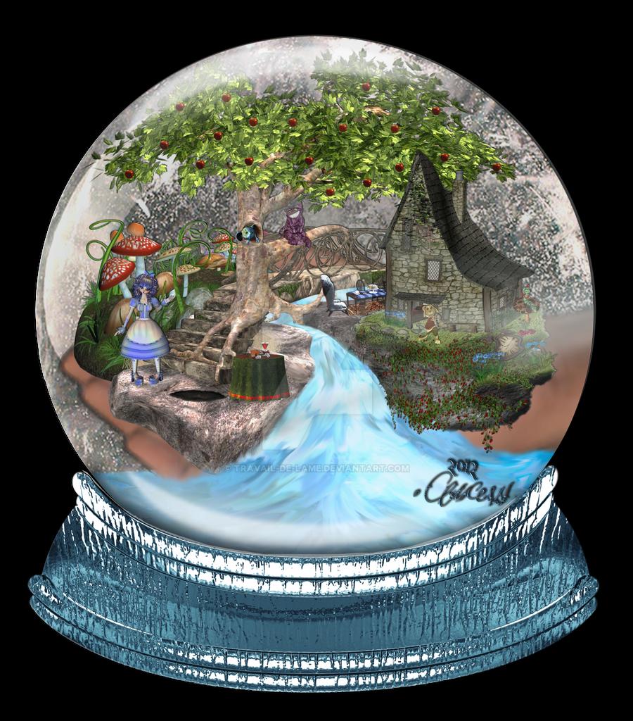Alice in Wonderland ~ Snow Globe