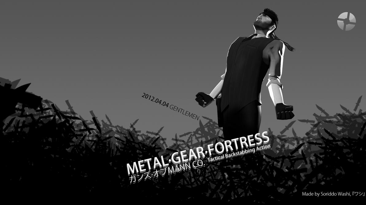 Metal Gear Fortress - Guns of MANN CO. 'Dissolved' by DevARTExplosvieMan
