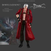 Devil May Cry 3 Hd Dante (Beta version) by WeskerFan1236