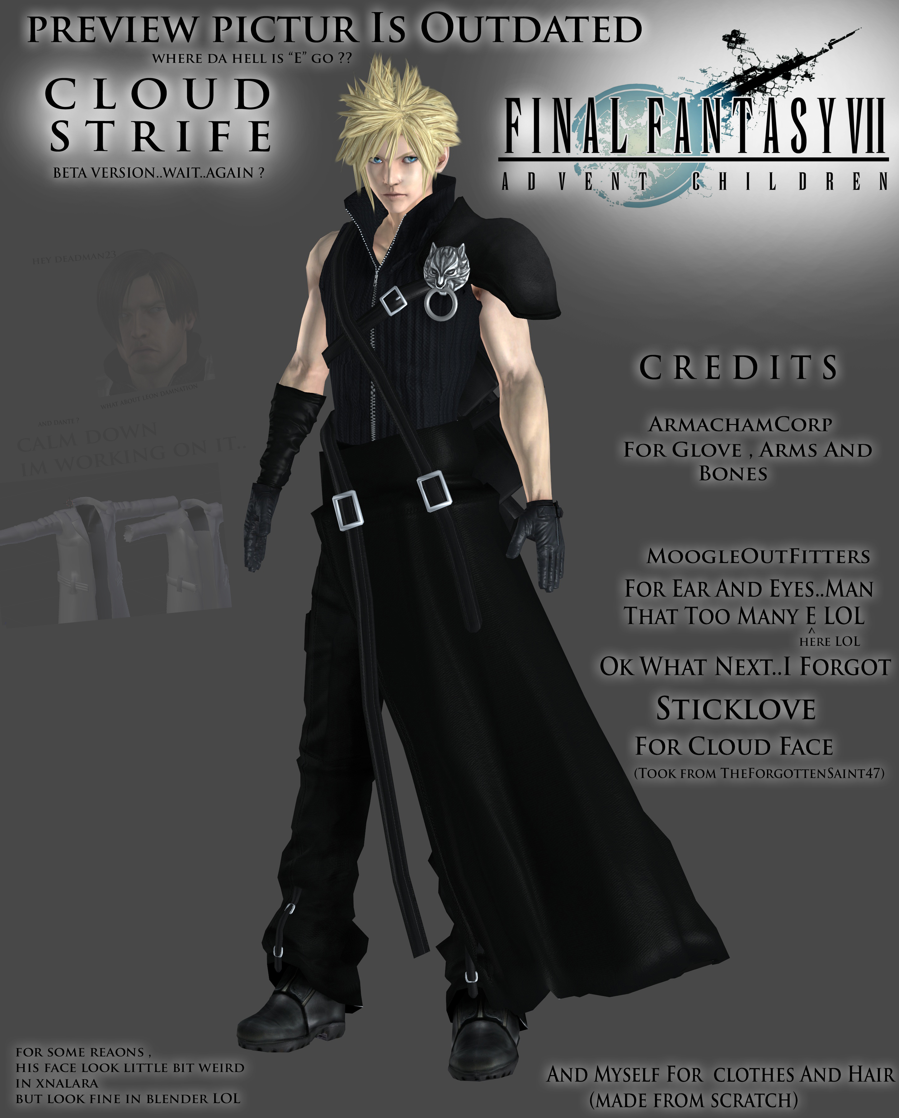 cloud strife final fantasy vii advent children by