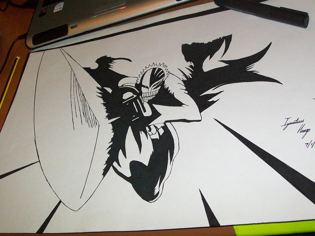 how to draw ichigo bankai