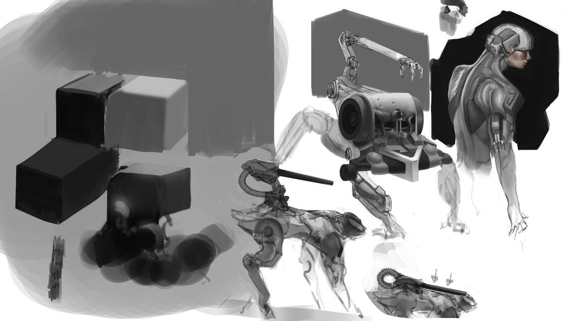 sci fi Sketches 004 by IggyTek