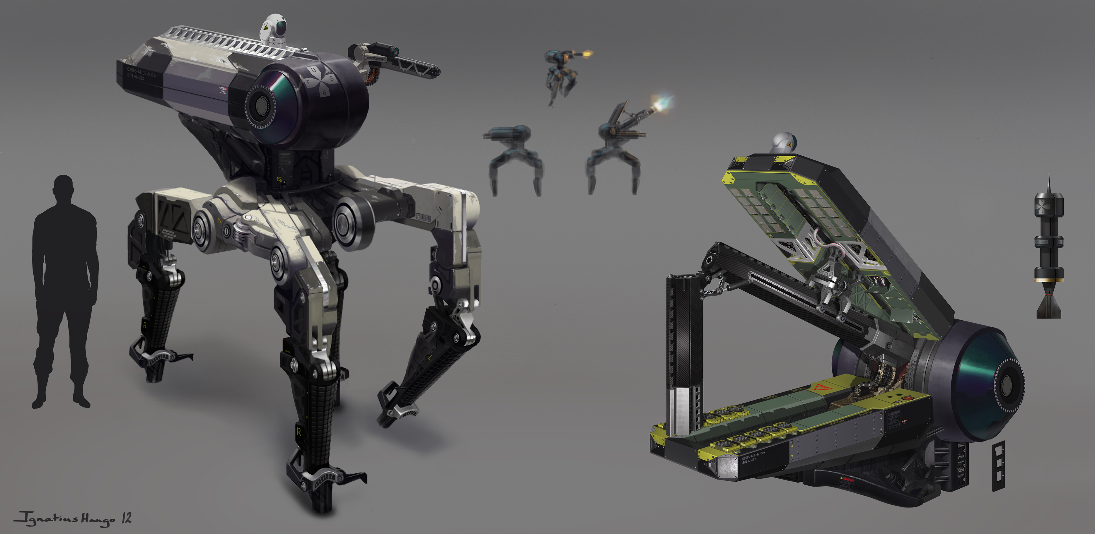 Autonomous Precision Anti Material Mech by IggyTek