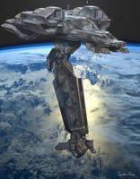 BattleStar Gallactica  LEO Cruiser Commission by IggyTek