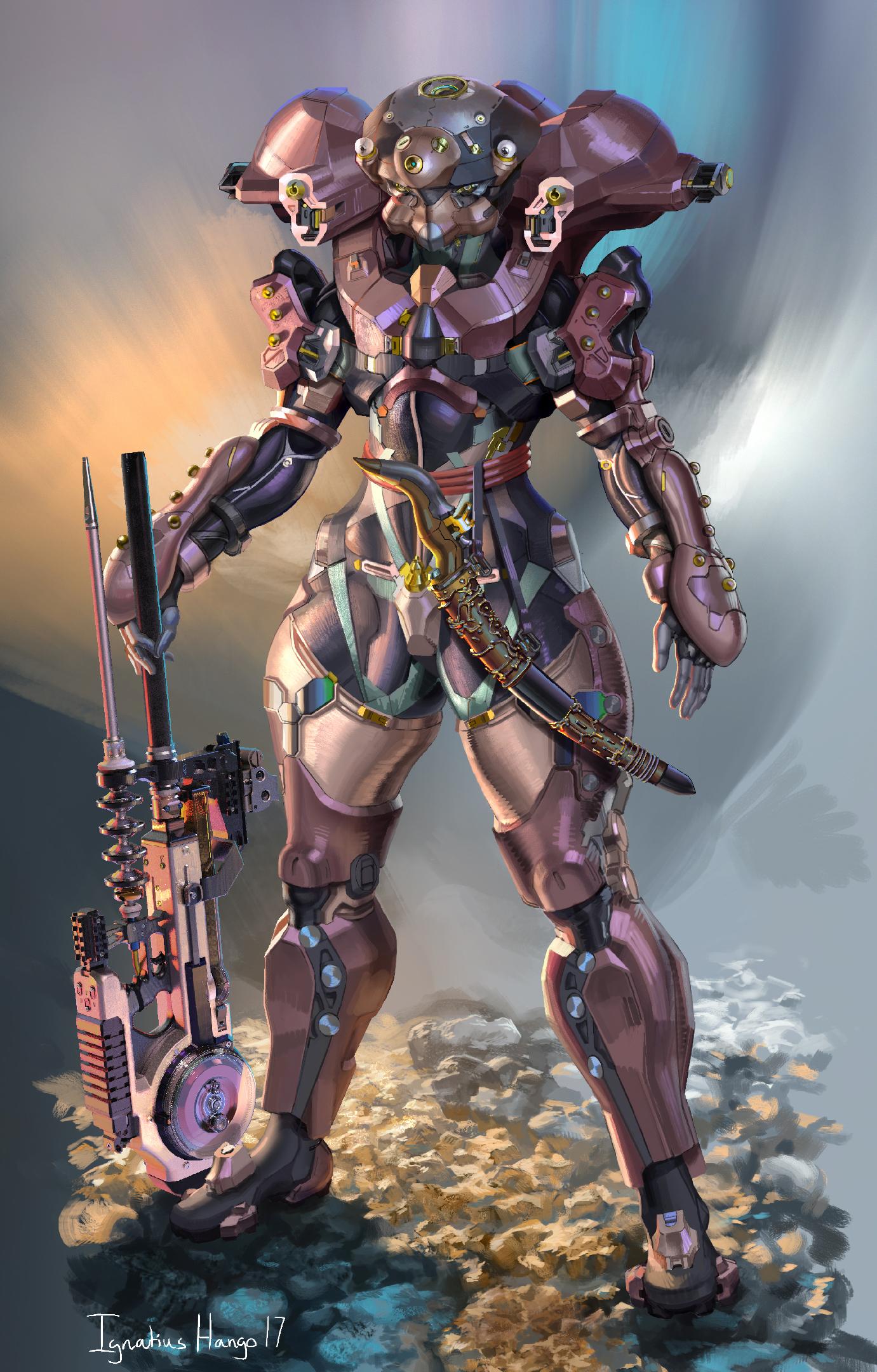 Deep Space Commando helmeted by IggyTek
