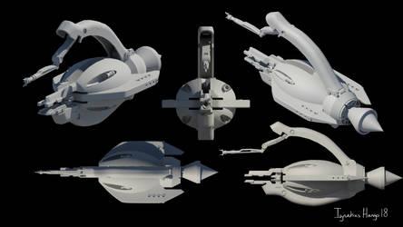 Kaidon-Weiss Mamba IV Drone render by IggyTek