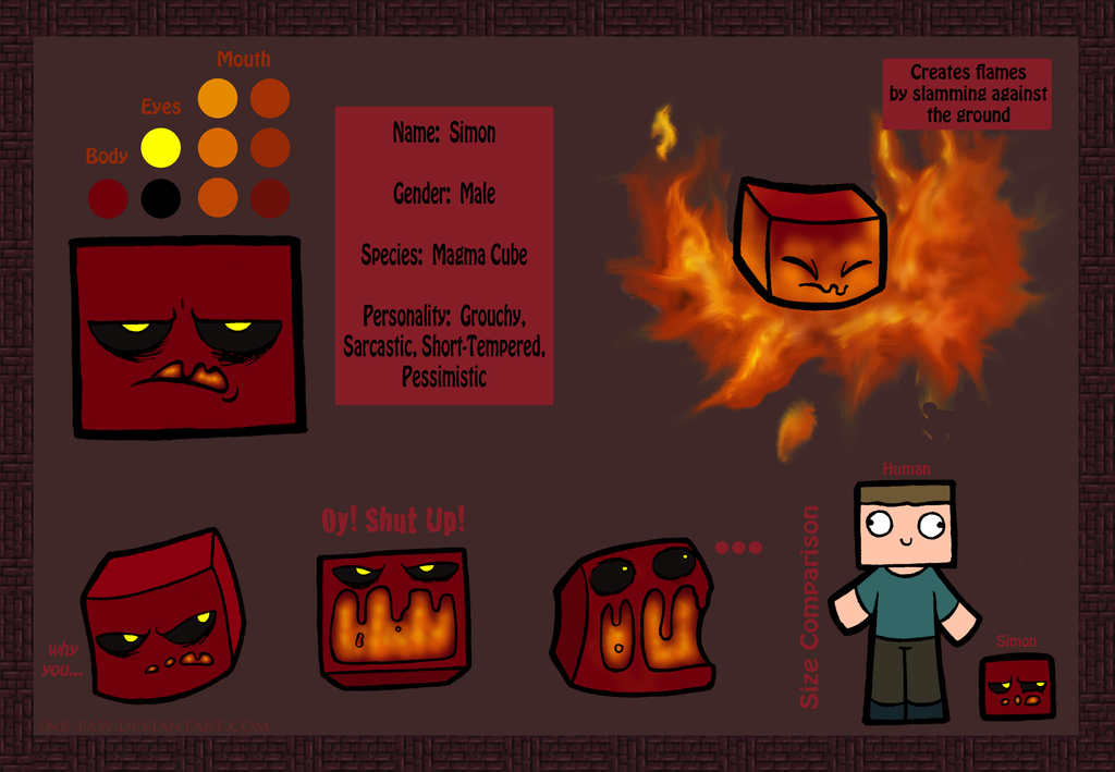 Simon the Magma Cube by Ink--It on DeviantArt