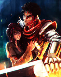 COMM:Can you draw Guts from Berserk protecting me? by LemKuuja