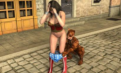 Wonder Woman Gets Pantsed by MickLee99